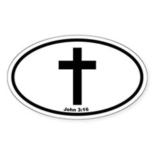 Cross Oval Oval Decal
