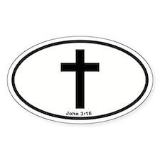 Cross Oval Oval Stickers