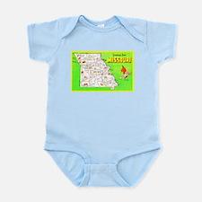 Missouri Map Greetings Infant Bodysuit