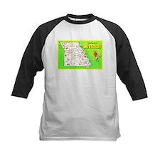 Missouri Map Greetings Tee