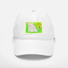 Missouri Map Greetings Baseball Baseball Cap
