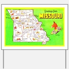 Missouri Map Greetings Yard Sign
