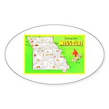 Missouri Map Greetings Decal
