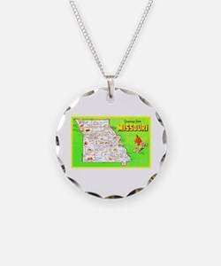 Missouri Map Greetings Necklace