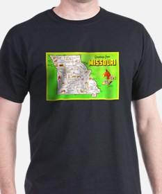 Missouri Map Greetings T-Shirt
