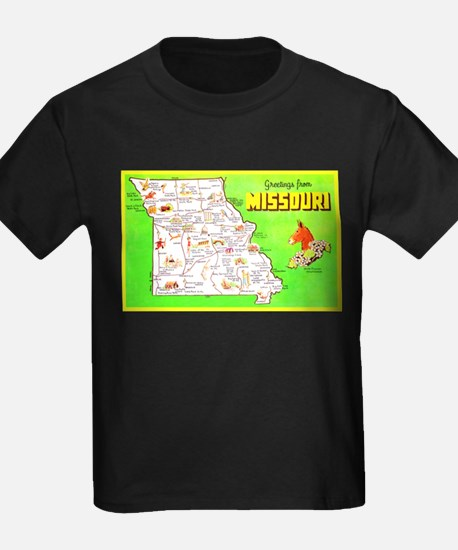 Missouri Map Greetings T