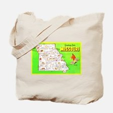 Missouri Map Greetings Tote Bag