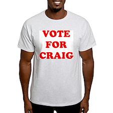 Vote For Craig Ash Grey T-Shirt