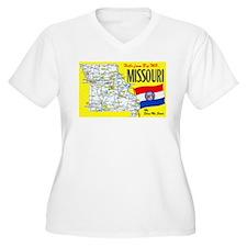 Missouri Map Greetings T-Shirt