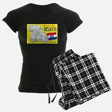 Missouri Map Greetings Pajamas