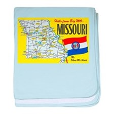 Missouri Map Greetings baby blanket