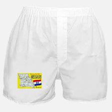 Missouri Map Greetings Boxer Shorts