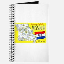 Missouri Map Greetings Journal