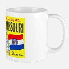 Missouri Map Greetings Mug