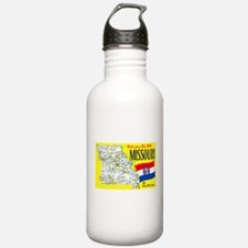 Missouri Map Greetings Water Bottle