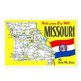 Missouri map Postcards