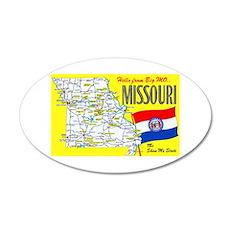 Missouri Map Greetings Wall Decal