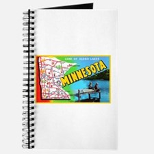 Minnesota Map Greetings Journal