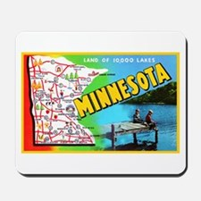 Minnesota Map Greetings Mousepad