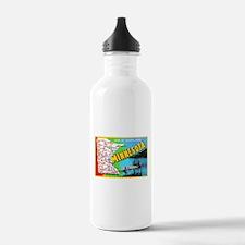 Minnesota Map Greetings Water Bottle