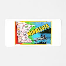 Minnesota Map Greetings Aluminum License Plate