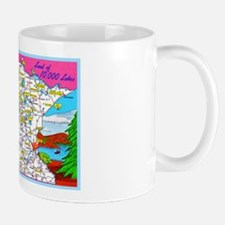 Minnesota Map Greetings Mug