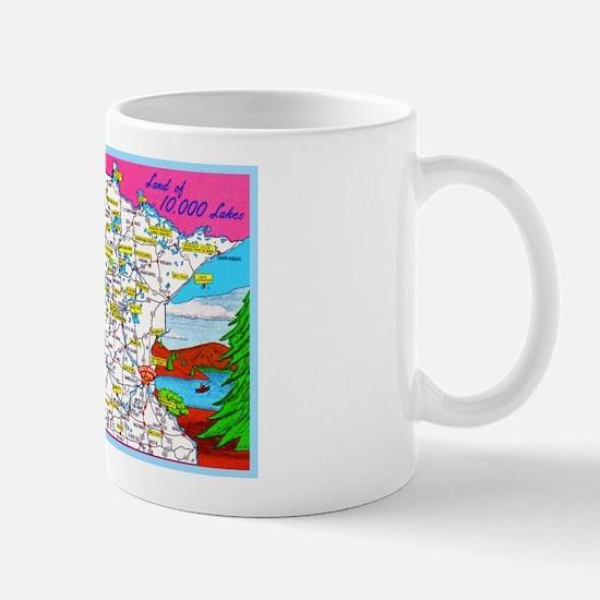 Minnesota Map Greetings Mug
