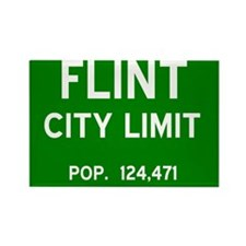 Flint City Limit Rectangle Magnet
