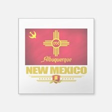 "Albuquerque (Flag 10).png Square Sticker 3"" x 3"""