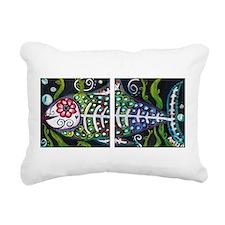 El Pescado Rectangular Canvas Pillow