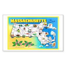 Massachussetts Map Greetings Decal