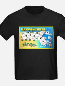 Massachussetts Map Greetings T
