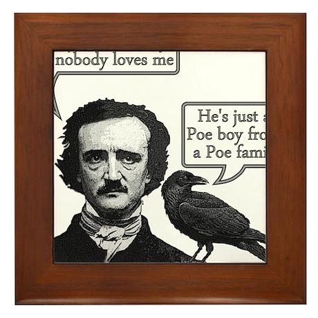 Poe Boy II Framed Tile