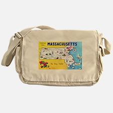Massachussetts Map Greetings Messenger Bag