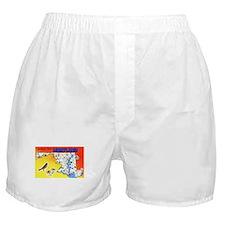Maryland Map Greetings Boxer Shorts
