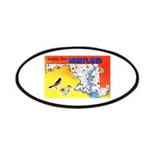 Maryland Map Greetings Patches