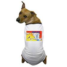 Maryland Map Greetings Dog T-Shirt