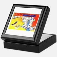 Maryland Map Greetings Keepsake Box