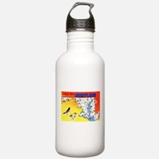 Maryland Map Greetings Water Bottle