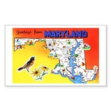Maryland Map Greetings Decal