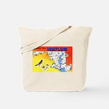 Maryland Map Greetings Tote Bag