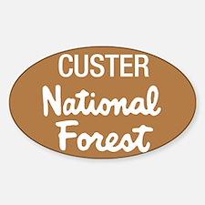 Custer National Forest (Sign) Sticker (Rectangular