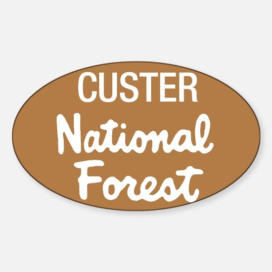 Custer National Forest (Sign) Sticker (Rectangular