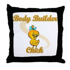 Body Builder Chick #2 Throw Pillow