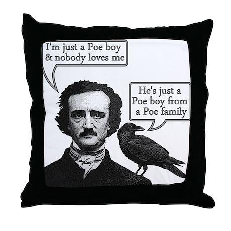Poe Boy Throw Pillow