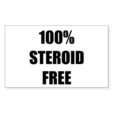 Steroid Free Sticker (Rectangle 10 pk)