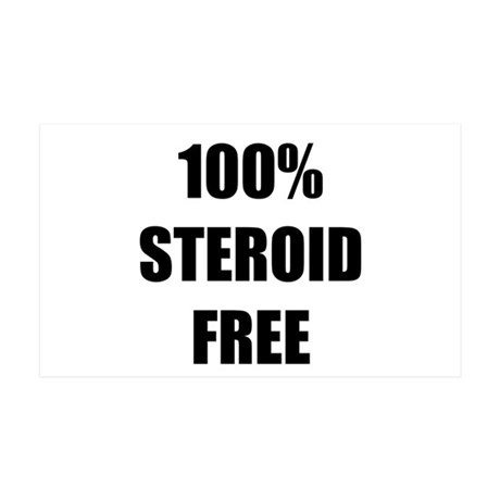 Steroid Free 35x21 Wall Decal
