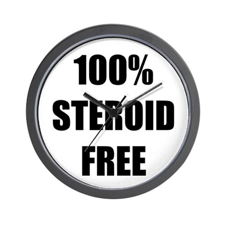 Steroid Free Wall Clock