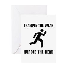 Trample Hurdle Greeting Card