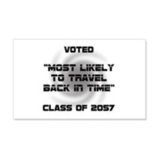 Voted Time Travel Wall Decal